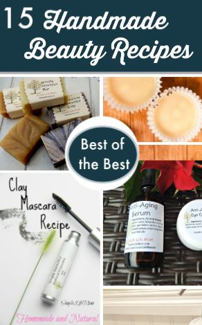 15 Best Handmade Beauty Products from Simple Life Mom