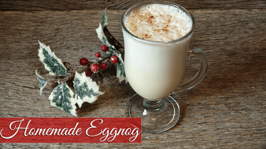 Homestead Blog Hop Feature - Homemade Egg Nog Recipe