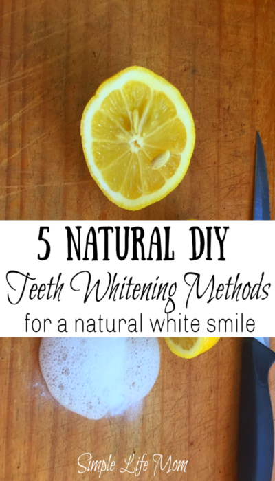 DIY Natural Teeth Whitening Methods by Simple Life Moms