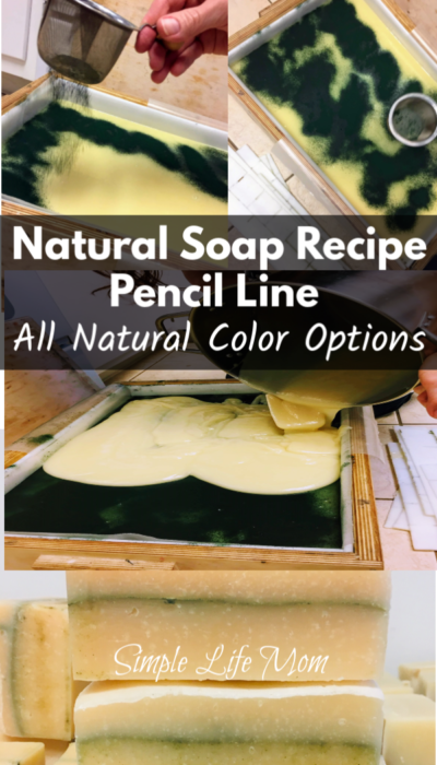 Pencil Line Soap Recipe from Simple Life Mom