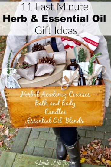 11 Last Minute Herb and Essential Oil Gift Ideas from Simple Life Mom
