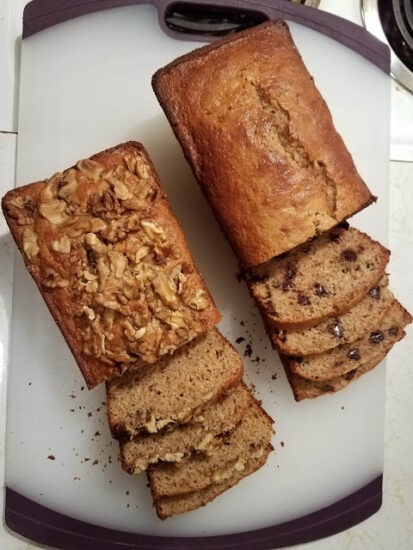 Homestead Blog Hop Feature - Whole Wheat Cream Cheese Banana Bread