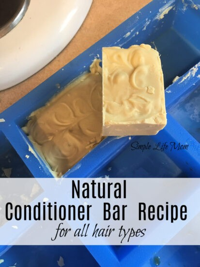 Natural coniditioner bar recipe for all hair types from Simple Life Mom