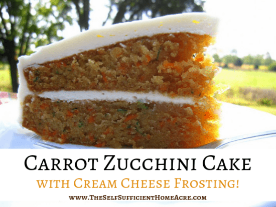 Homestead Blog Hop Feature - Carrot-Zucchini-Cake-with-Cream-Cheese-Frosting