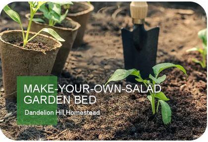 Homestead Blog Hop Feature - Make Your Own Salad Garden Bed
