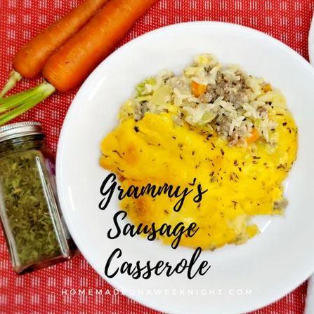 Homestead Blog Hop Feature Grammy's Sausage Casserole