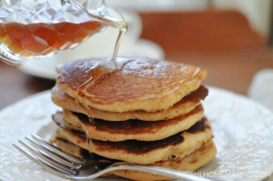 Homestead Blog Hop Feature - whole-wheat-sourdough-pancakes
