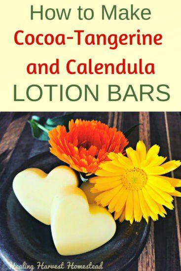 Homestead Blog Hop Feature - How to Make Cocoa Orange Calendula Lotion Bars