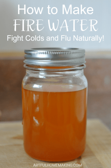 Homestead Blog Hop Feature - natural-cold-and-flu-fighter-fire-water